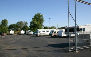 Caravan storage security, vehicle compounds, storage yards.