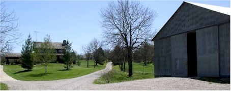 Outbuildings and multiple entrances can be covered by one or two beamsets
